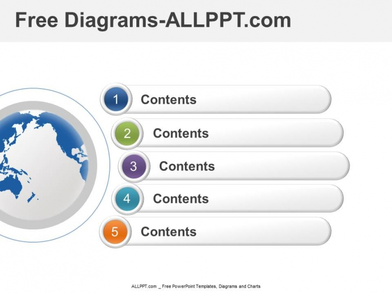 Step-Stage Diagram and Free PPT Template and Chart
