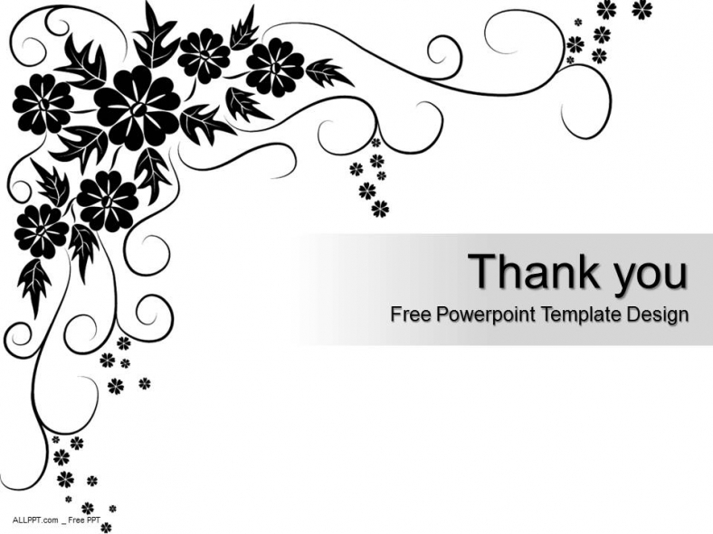 Black Floral Pattern Powerpoint Template Design Daily
