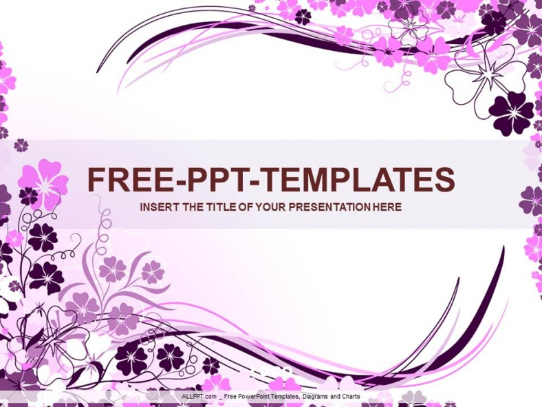 wavy purple floral ppt design download free daily updates. Black Bedroom Furniture Sets. Home Design Ideas