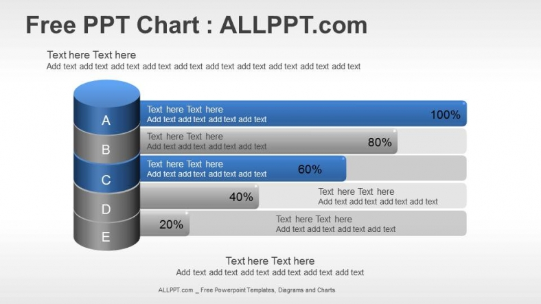 Bar Chart PPT Diagram With Cylinders + Download Free + Daily Updates +