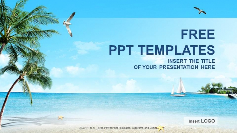 perfect wave beach powerpoint templates and powerpoint backgrounds