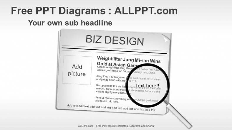 News Paper Graphic Ppt Diagrams Download Free Daily