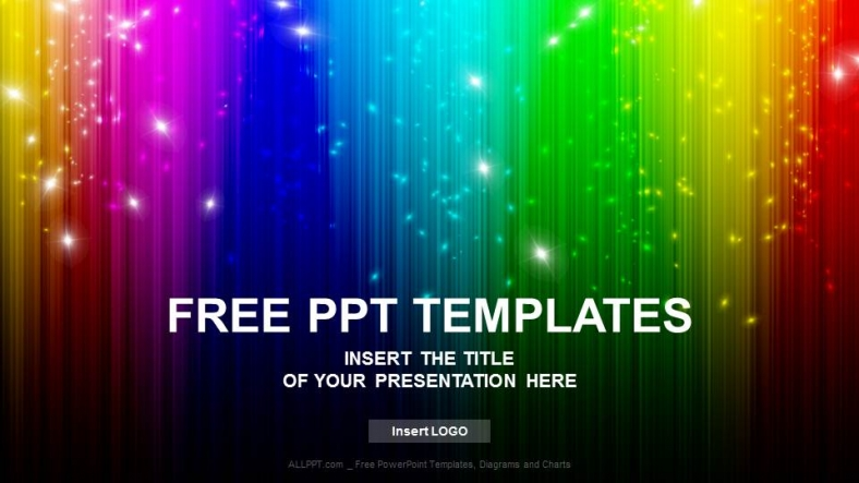 rainbow abstract powerpoint templates   download free