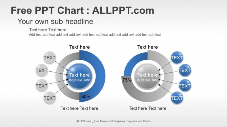 Sample Chart Templates free powerpoint charts and graphs templates : Spheres and Doughnuts PPT Chart + Download Free + Daily Updates +