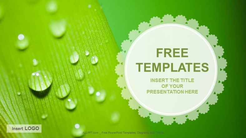 Droplets nature ppt templates download free for Templates for pages free download