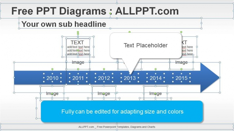 6 Years Arrow Timeline PPT Diagrams + Download Free +