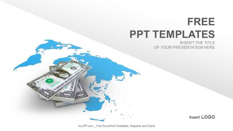 american dollar finance ppt templates download free. Black Bedroom Furniture Sets. Home Design Ideas