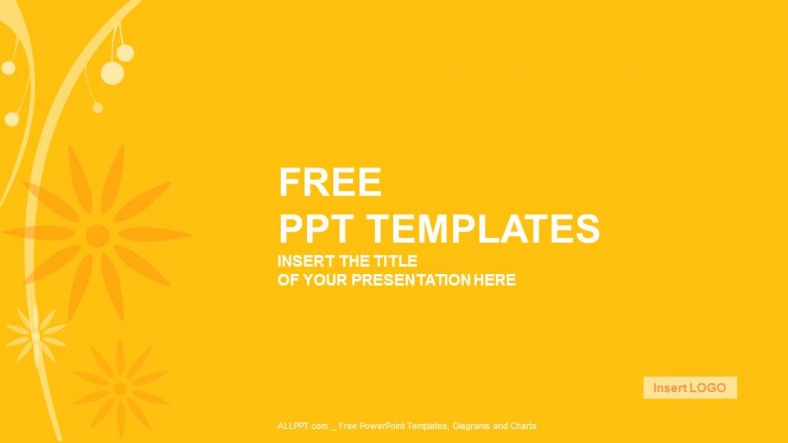 orange floral abstract powerpoint templates download free