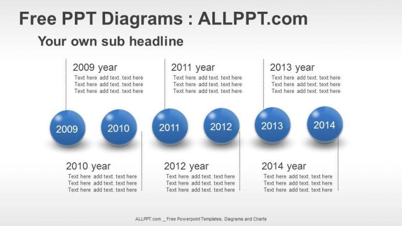 Spheres Timeline Ppt Diagrams   Download Free