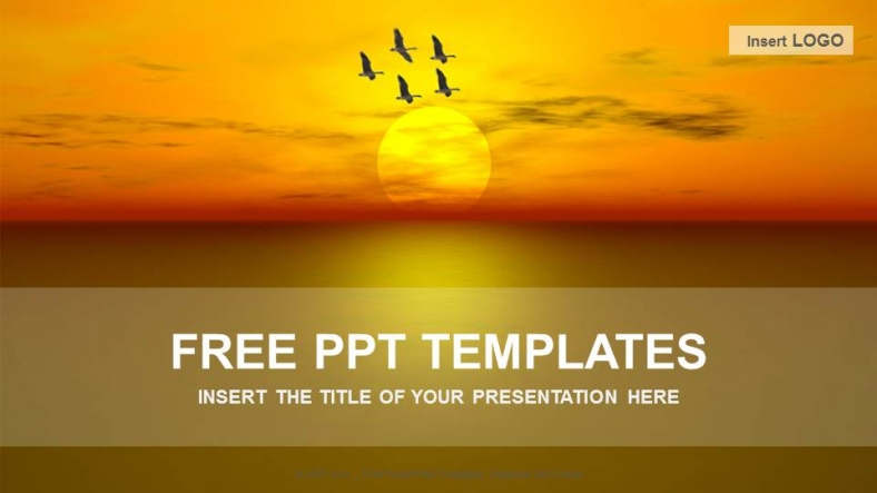 sunset nature powerpoint templates download free. Black Bedroom Furniture Sets. Home Design Ideas