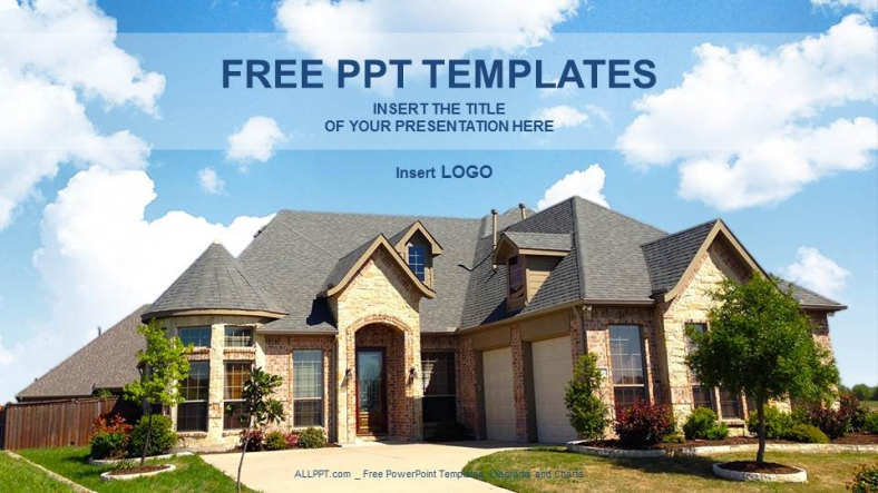 free real estate templates - architecture home real estate ppt templates