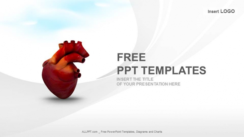human heartmedical ppt templates