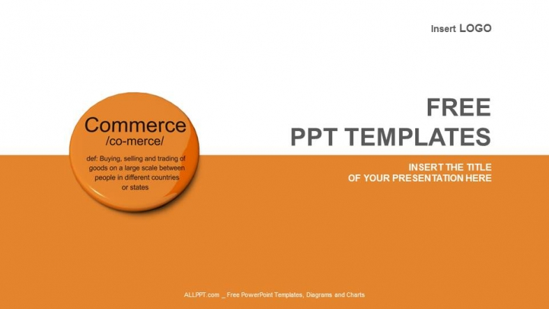 define template in powerpoint - commerce definition button business ppt templates