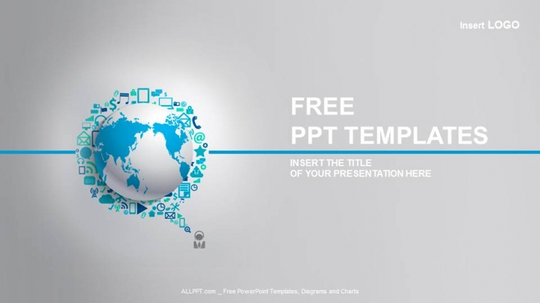 Globe Powerpoint Templates  BesikEightyCo