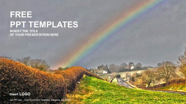 Rainbow Nature Powerpoint Templates