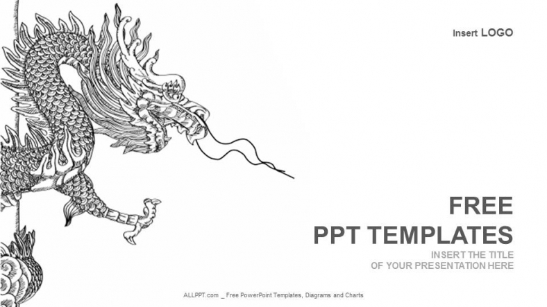 chinese dragon powerpoint template, Powerpoint