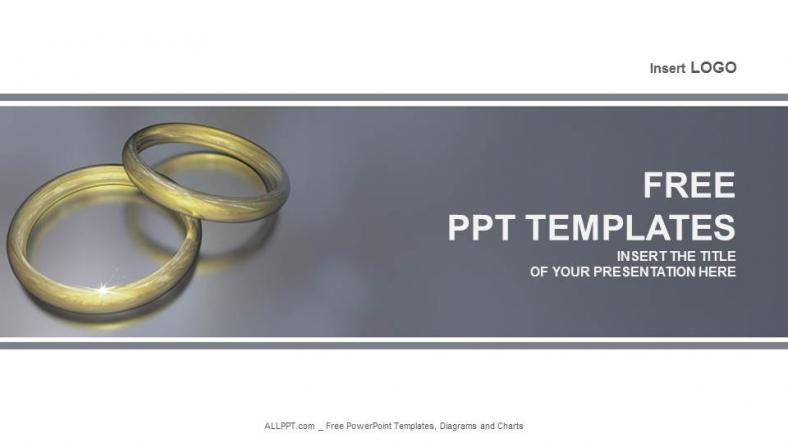 wedding ring recreation powerpoint templates