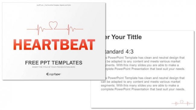 Charting A Heartbeat-Medical PPT Templates