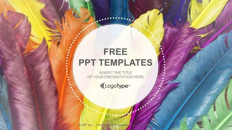Feathers-in-colors-Recreation-PowerPoint-Templates (1)