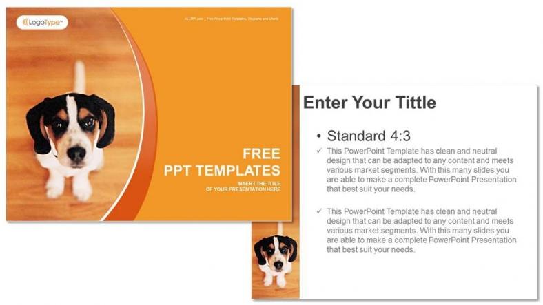 Little Dog Nature Powerpoint Templates