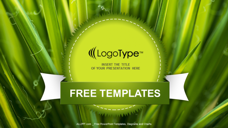 Green Leaves Nature PowerPoint Templates 1
