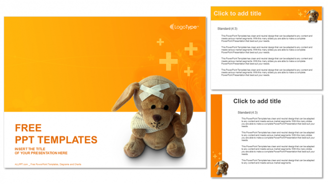 Bandaged-Teddy-Bear-Medical-PPT-Templates (4)