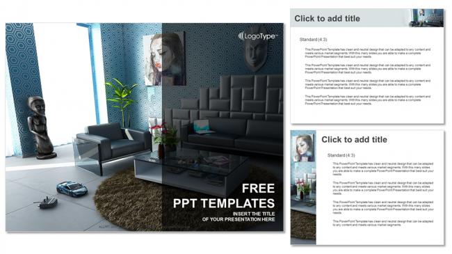 Modern Interior Real Estate Ppt Templates