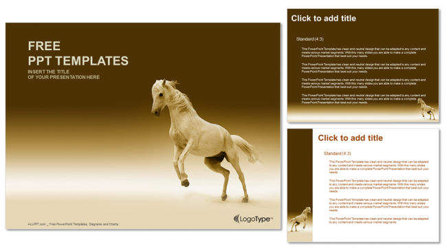 nice horsenature powerpoint templates