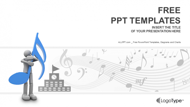 Music schools education powerpoint templates for Music themed powerpoint templates