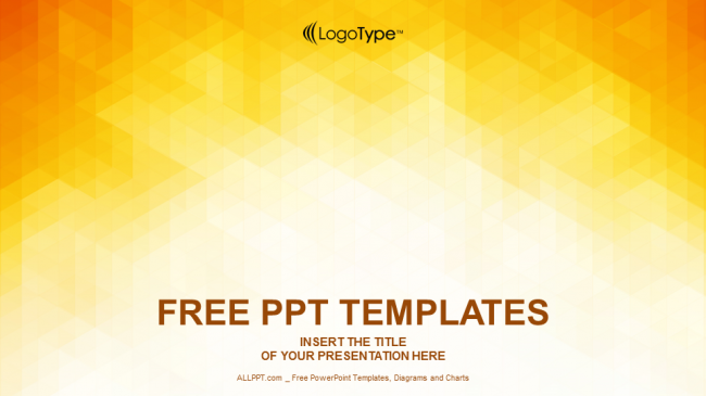 orange abstraction design powerpoint templates