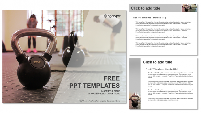 fitness trainersports powerpoint templates