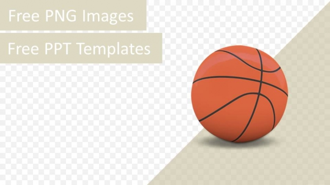 3d basketball isolated png ppt template. Black Bedroom Furniture Sets. Home Design Ideas