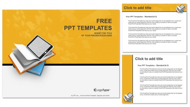 tablet computer with pages powerpoint templates