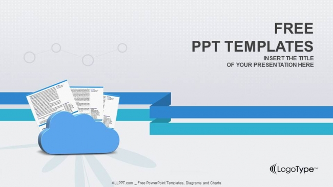 clouds and documents powerpoint templates. Black Bedroom Furniture Sets. Home Design Ideas