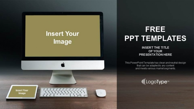 monitor and tablet mockup powerpoint templates