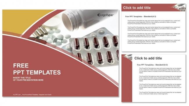 Prescription Medicine Pill Bottle Powerpoint Templates