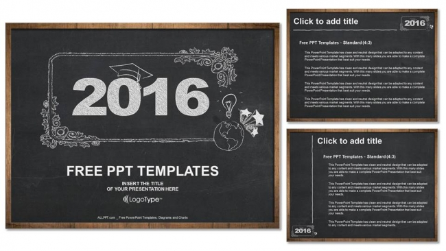 2016 Concept On Blackboard Powerpoint Templates