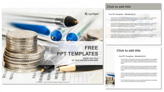 Coins With Financial Statement Powerpoint Templates