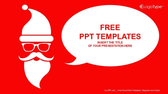 merry christmas with santa powerpoint templates