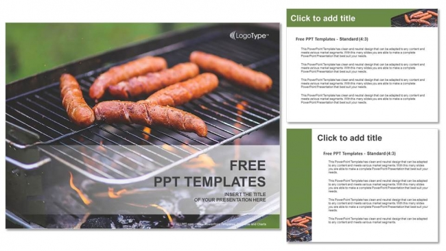 outdoors barbecue party powerpoint templates
