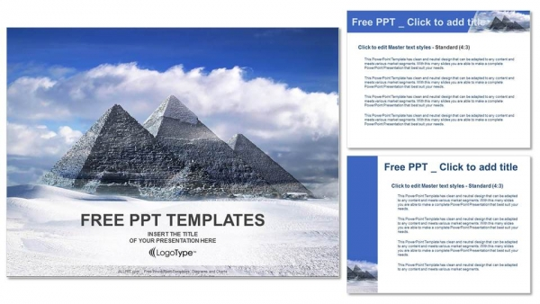 Great Pyramids In Giza Valley Travel Powerpoint Templates