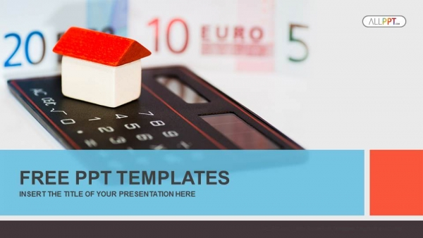 House on calculator and money PowerPoint Templates