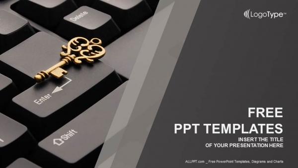 Key On Computer Keyboard Powerpoint Templates