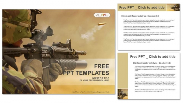 16 9    Submachine gun Military PowerPoint Templates Widescreen SEARzZwS