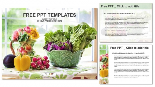 Watercolor illustration with vegetables PowerPoint Templates