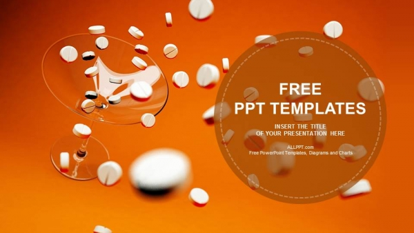 White Pills Medical Powerpoint Templates