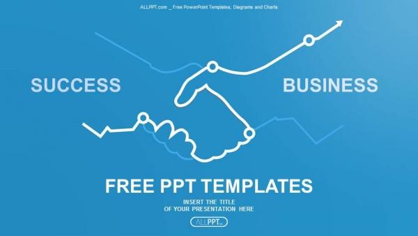 abstract illustration handshake powerpoint templates