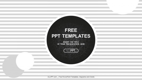 black circles on a background with stripes powerpoint
