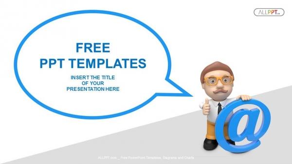 Business With Speech Ballons Communication Concept Powerpoint Templates