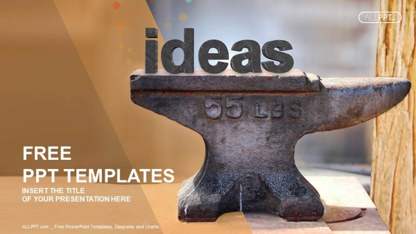 Free colorful powerpoint templates design old heavy steel anvil and ideas type powerpoint templates toneelgroepblik Choice Image